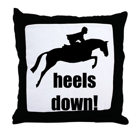 heels down jumper Throw Pillow