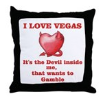 It's the Devil inside me Throw Pillow