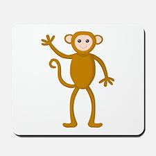 Cute Waving Monkey Mousepad