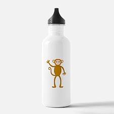 Cute Waving Monkey Water Bottle