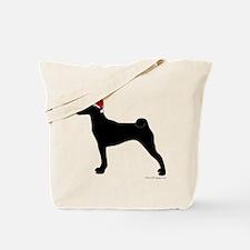 Santa Basenji Tote Bag
