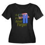 9-11 / Flag / Never Forget Women's Plus Size Scoop