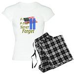 9-11 / Flag / Never Forget Women's Light Pajamas