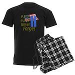 9-11 / Flag / Never Forget Men's Dark Pajamas