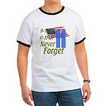 9-11 / Flag / Never Forget Ringer T