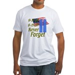 9-11 / Flag / Never Forget Fitted T-Shirt