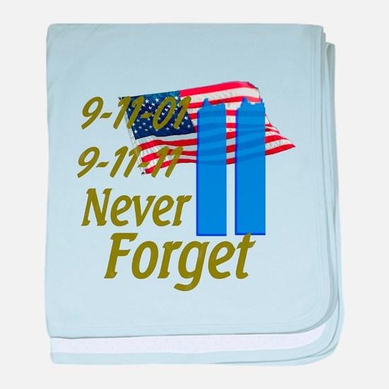 9-11 / Flag / Never Forget baby blanket