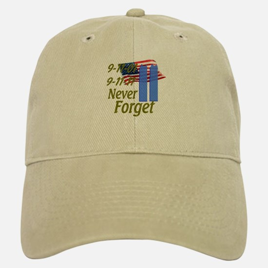 9-11 / Flag / Never Forget Baseball Baseball Cap