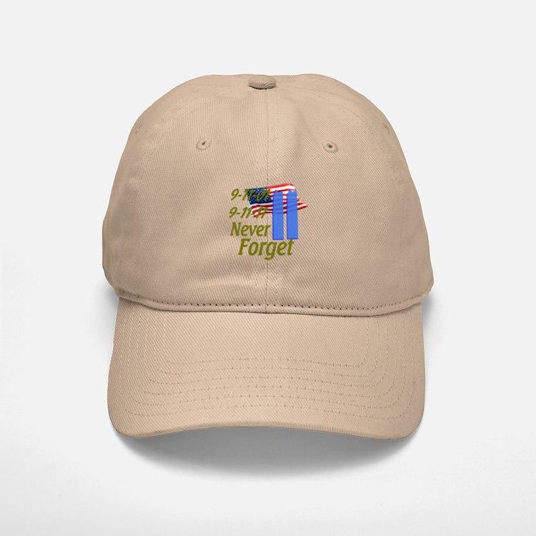 9-11 / Flag / Never Forget Baseball Baseball Cap