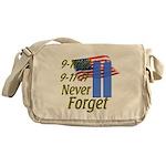 9-11 / Flag / Never Forget Messenger Bag