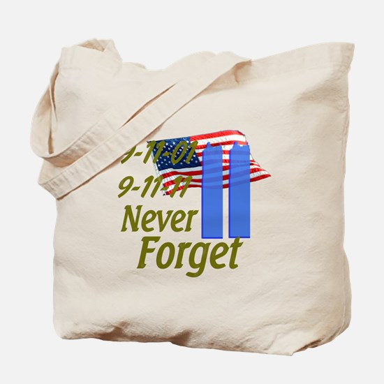 9-11 / Flag / Never Forget Tote Bag