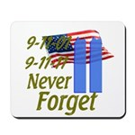 9-11 / Flag / Never Forget Mousepad