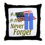 9-11 / Flag / Never Forget Throw Pillow