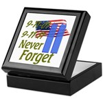 9-11 / Flag / Never Forget Keepsake Box
