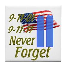 9-11 / Flag / Never Forget Tile Coaster
