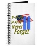 9-11 / Flag / Never Forget Journal