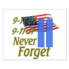 9-11 / Flag / Never Forget Posters