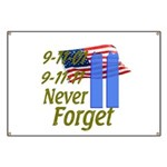 9-11 / Flag / Never Forget Banner
