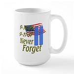 9-11 / Flag / Never Forget Large Mug