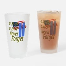 9-11 / Flag / Never Forget Drinking Glass