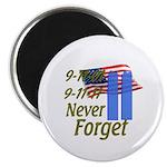 9-11 / Flag / Never Forget Magnet