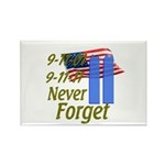 9-11 / Flag / Never Forget Rectangle Magnet (100 p