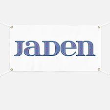 Jaden Blue Glass Banner