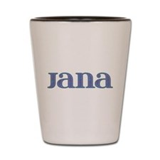 Jana Blue Glass Shot Glass