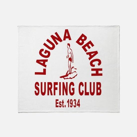 Laguna Beach Surfing Club Throw Blanket