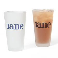 Jane Blue Glass Drinking Glass