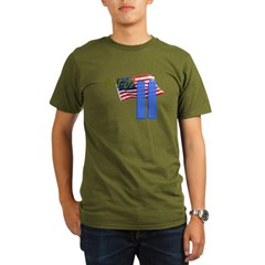 9-11 with Flag, Buildings T-Shirt