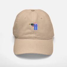 9-11 with Flag, Buildings Baseball Baseball Cap