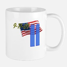 9-11 with Flag, Buildings Mug