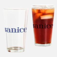 Janice Blue Glass Drinking Glass
