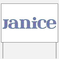 Janice Blue Glass Yard Sign