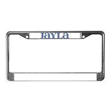 Jayla Blue Glass License Plate Frame