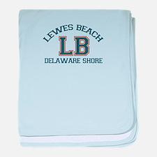 Lewes Beach DE - Varsity Design. baby blanket