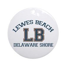 Lewes Beach DE - Varsity Design. Ornament (Round)