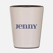 Jenny Blue Glass Shot Glass