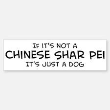 Chinese Shar Pei Bumper Bumper Bumper Sticker