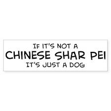 Chinese Shar Pei Bumper Car Sticker