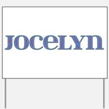 Jocelyn Blue Glass Yard Sign
