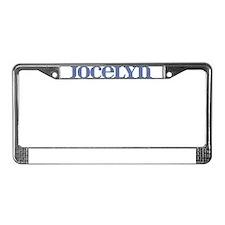 Jocelyn Blue Glass License Plate Frame