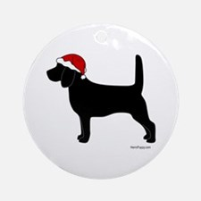 Beagle Santa Ornament (Round)