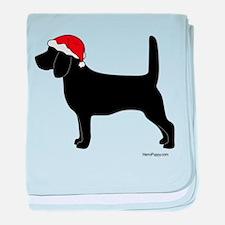 Beagle Santa baby blanket
