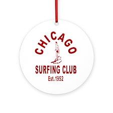 Chicago Surfing Club Ornament (Round)