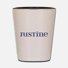 Justine Blue Glass Shot Glass