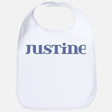 Justine Blue Glass Bib