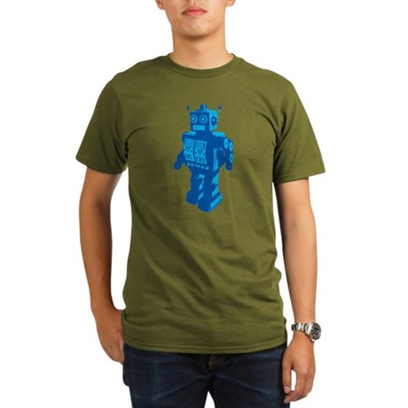 Robot Organic Men's T-Shirt (dark)