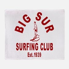 Vintage Big Sur Surfing Club Throw Blanket